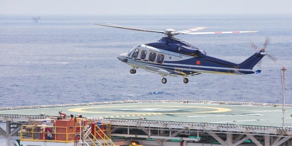 helicopter oil platform